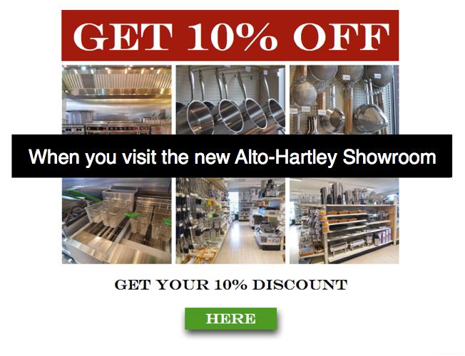 Alto Hartley Showroom Discount for Foodservice CTA