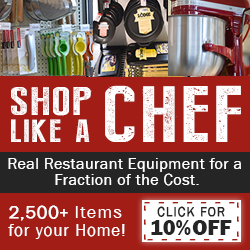Shop Like a Chef 10% Coupon