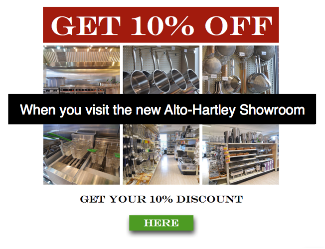 Alto Hartley Showroom Discount for Foodservice CTA