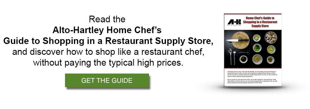 guide to shopping in a restaurant supply store